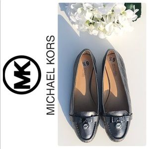 Michael Kors Metallic Leather Loafers